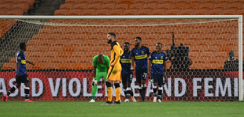 Bradley Ralani of Cape Town City celebrates after scoring against Kaizer Chiefs