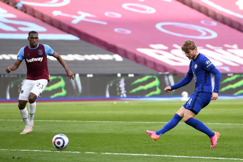 Werner strengthens Chelsea's grip on fourth