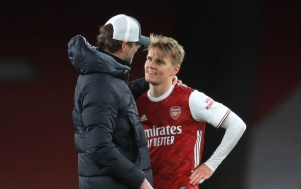 Premier League rivals and PSG keen on Odegaard