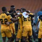 Samir Nurkovic of Kaizer Chiefs celebrates his goal against Simba