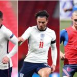 England trio Mount, Grealish and Foden