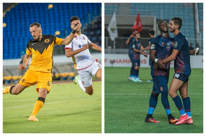 Kaizer Chiefs (L) and Al Ahly (R)