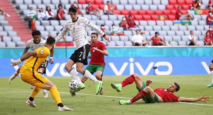 Kai Havertz of Germany vs Portugal