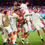 Spain celebrate against Croatia
