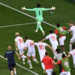 Switzerland celebrate after beating France