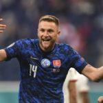 Skriniar strike earns Slovakia victory over 10-man Poland