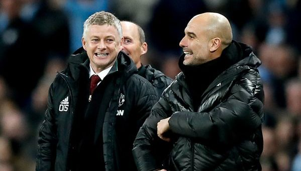 Guardiola and Solskjaer, Manchester City and Manchester United Premier League
