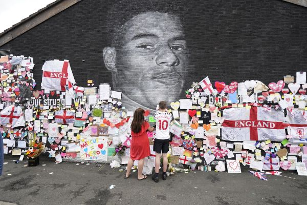 Marcus Rashford mural in Manchester