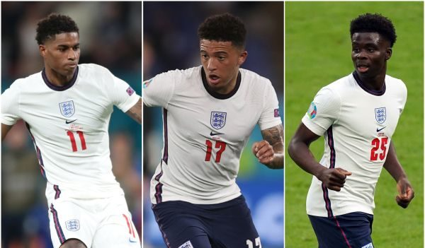 England trio Rashford, Sancho and Saka