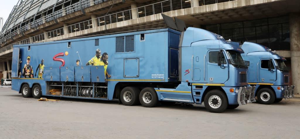 SuperSport broadcast trucks