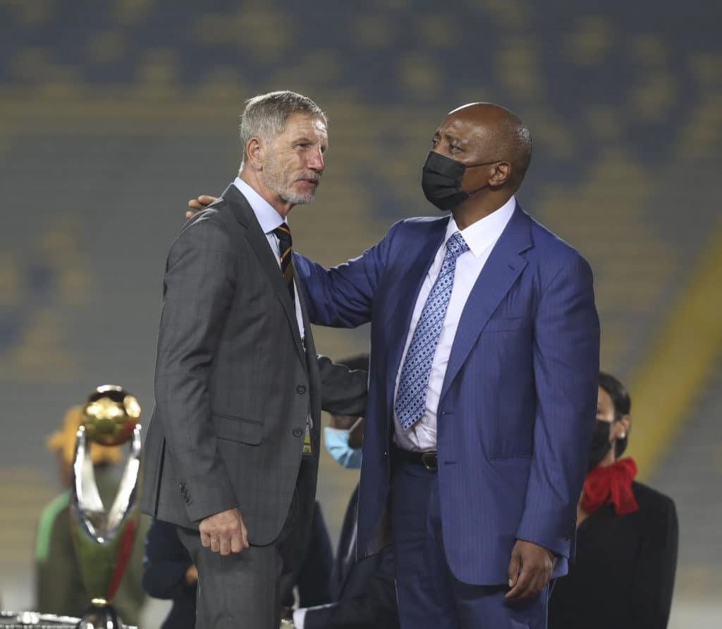 Stuart Baxter, coach of Kaizer Chiefs and CAF Patrice Motsepe