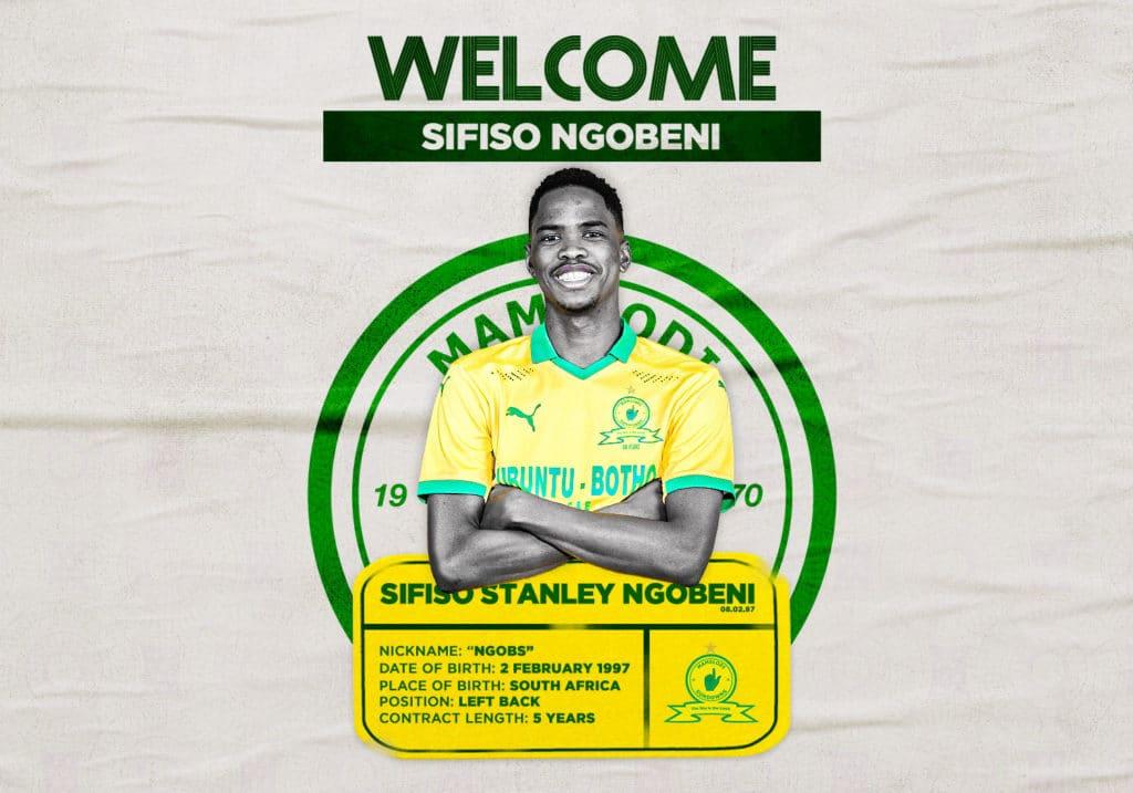 Mamelodi Sundowns sign Sifiso Ngobeni from Bloemfontein Celtic