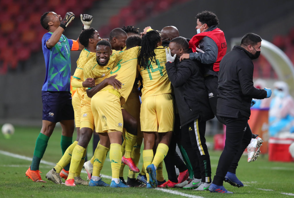 Highlights: Bafana put three past Mozambique to secure final spot