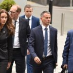 Ryan Giggs 'kicked ex in back and threw her naked out of hotel room', court told