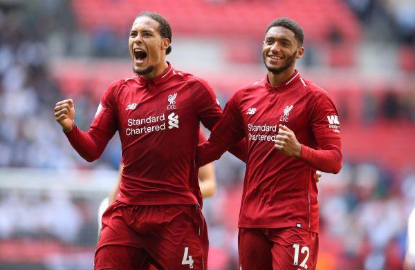 Liverpool centre-backs Virgil Van Dijk and Joe Gomez