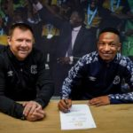 Bongani Mpandle and Eric Tinkler of Cape Town City FC