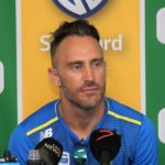 South African Captain Faf du Plessis during South Africa press conference ahead of the second International Test Series 2019/20 game between South Africa and England at Newlands Cricket Ground, Cape Town on 2 January 2020 © Shaun Roy/BackpagePix