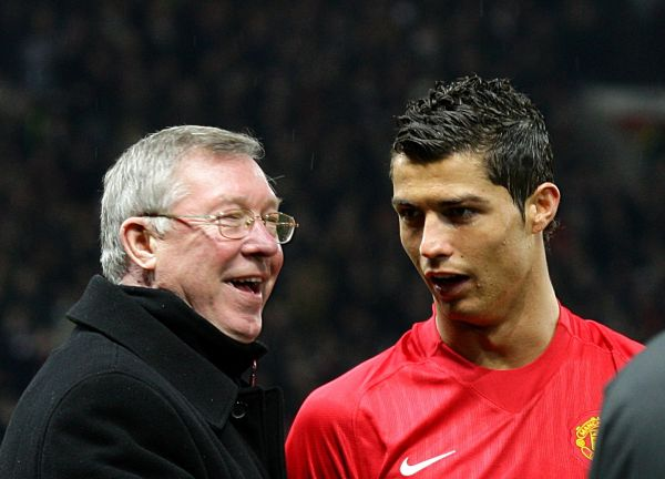 Ronaldo and Sir Alex Ferguson