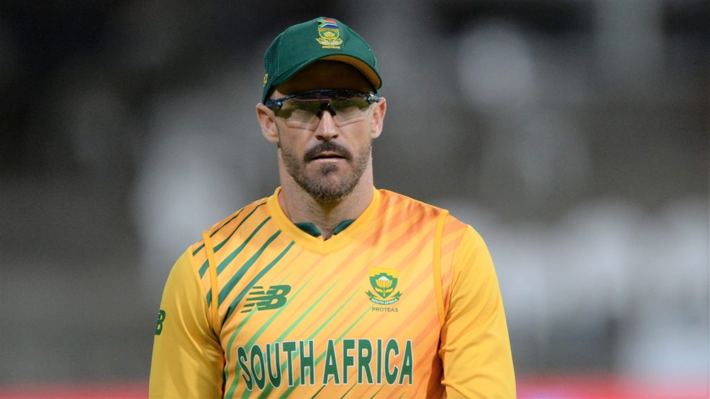 Faf du Plessis of South Africa during the third 2020 KFC T20 International Series game between South Africa and England at Newlands Cricket Ground in Cape Town on 1 December 2020 © Ryan Wilkisky/BackpagePix