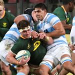 Jasper Wiese of the Springboks drives forwards during the 2021 Rugby Championship test match between South Africa and Argentina at Nelson Mandela Bay Stadium in Port Elizabeth on 14 August 2021 ©Deryck Foster/BackpagePix