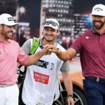 DUBAI, UNITED ARAB EMIRATES - NOVEMBER 21: Louis Oosthuizen of South Africa and Erik van Rooyen of South Africa walk off the 17th tee during Day One of the DP World Tour Championship Dubai at Jumeirah Golf Estates on November 21, 2019 in Dubai, United Arab Emirates. (Photo by Ross Kinnaird/Getty Images)