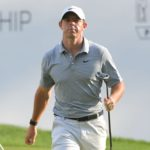 OWINGS MILLS, MD - AUGUST 26: Rory McIlroy of Northern Ireland walks off the 15th green during the first round of the BMW Championship at Caves Valley Golf Club on August 26, 2021 in Owings Mills, Maryland. (Photo by Ben Jared/PGA TOUR via Getty Images)