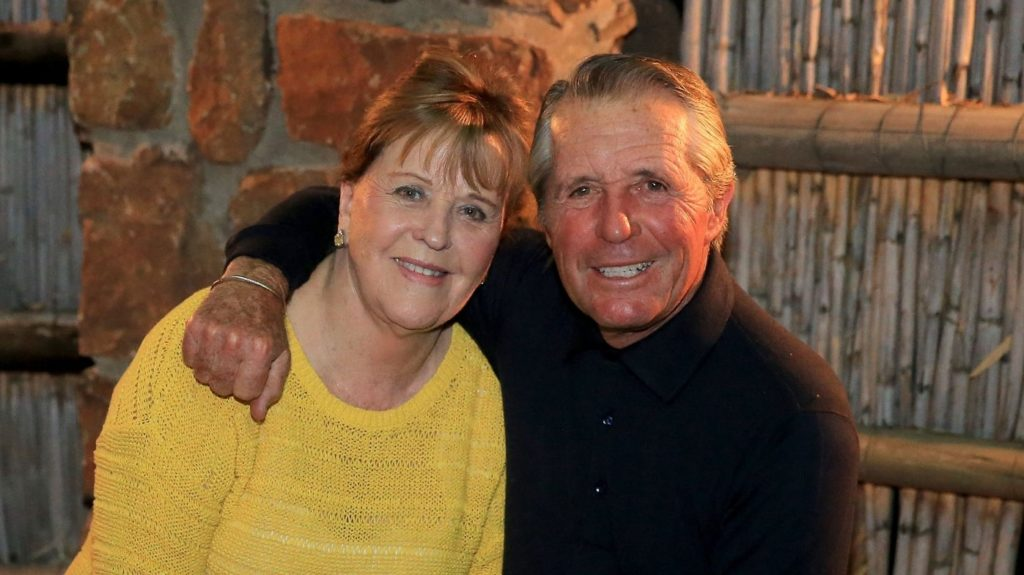 COLESBERG, SOUTH AFRICA - NOVEMBER 29: Gary Player of South Africa the legendary golfer at home with his wife Vivienne Player on his stud farm on November 29, 2013 in Colesberg, South Africa. (Photo by David Cannon/Getty Images)