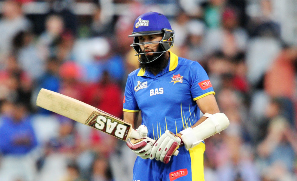 Hashim Amla of Cobras during the 2017 RamSlam T20 Challenge game between the Cobras and the Titans at Newlands Cricket Ground, Cape Town on 8 December 2017 © Ryan Wilkisky/BackpagePix