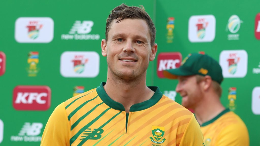 Man of the match George Linde of South Africa during the 2021 KFC T20 match between South Africa and Pakistan at Wanderers Stadium in Johannesburg on the 12 April 2021 ©Muzi Ntombela/BackpagePix