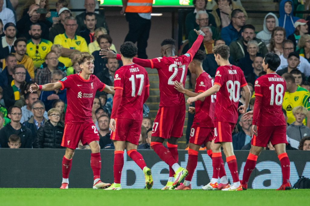 Carabao Cup wrap: Liverpool defeat Norwich, Man City hit Wycombe for six