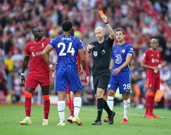 Chelsea fined after player reaction to Reece James red at Liverpool