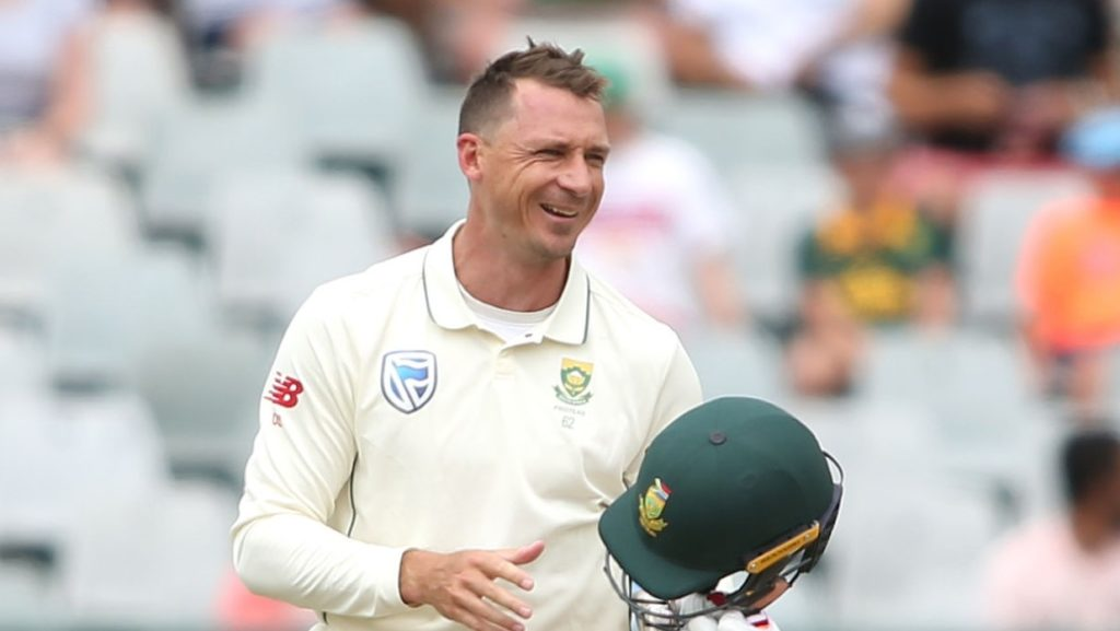 CAPE TOWN, SOUTH AFRICA - JANUARY 05: Dale Steyn of South Africa reacts after being hit on the helmet during day 3 of the 2nd Castle Lager Test match between South Africa and Pakistan at PPC Newlands on January 05, 2019 in Cape Town, South Africa. (Photo by Shaun Roy/Gallo Images/Getty Images)
