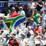South Africa fans enjoy the action during day 1 of the International Test Series 2019/20 game between South Africa and England at Newlands Cricket Ground, Cape Town on 3 January 2020 © Shaun Roy/BackpagePix