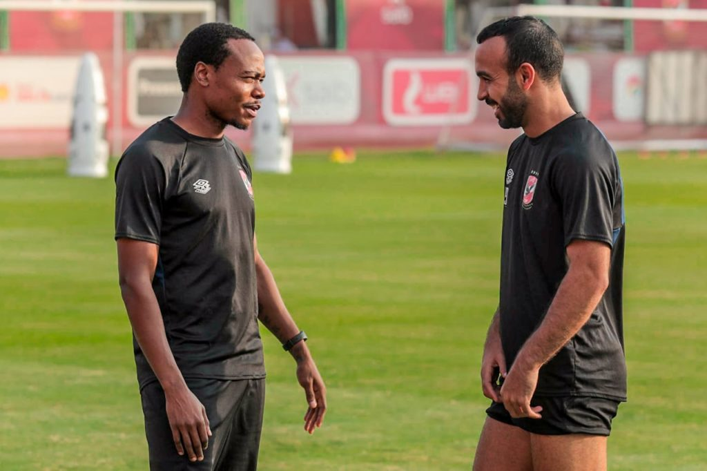 Percy Tau returns to full training at Al Ahly