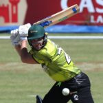 Wihan Lubbe of the Gbets Warriors square drives a delivery during the 2021/22 CSA Provincial T20 Cup cricket match between the Limpopo Impalas and Gbets Warriors at the Diamond Oval, Kimberley on 05 October 2021@Gavin Barker/BackpagePix