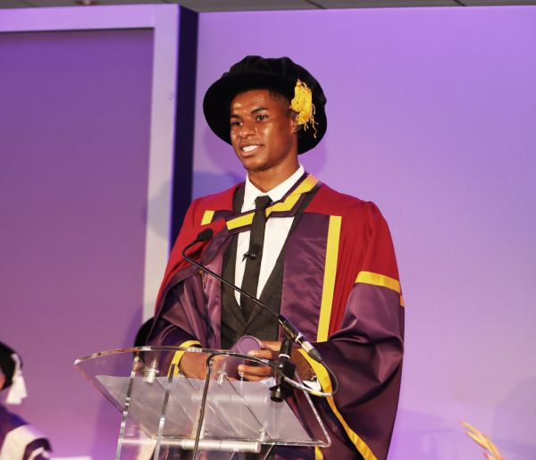 Rashford says collecting honorary degree 'bittersweet' after benefits cut
