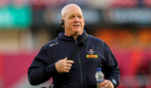 Mandatory Credit: Photo by Ryan Byrne/INPHO/Shutterstock (12521484o) Munster vs DHL Stormers. DHL Stormers Head Coach John Dobson United Rugby Championship, Thomond Park, Limerick - 02 Oct 2021