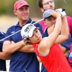 ADELAIDE, AUSTRALIA - FEBRUARY 14: Jeongeun Lee6 of Korea hits out the rough on the 15th during day two of the 2020 ISPS HANDA Women's Australian Open at Royal Adelaide Golf Club on February 14, 2020 in Adelaide, Australia. (Photo by Mark Brake/Getty Images)