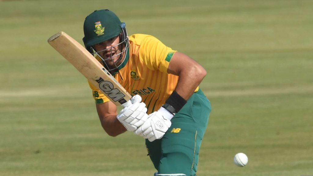 PRETORIA, SOUTH AFRICA - APRIL 16: Aiden Markram of the Proteas during the 3rd Betway ODI between South Africa and Pakistan at SuperSport Park on April 16, 2021 in Pretoria, South Africa. (Photo by Lee Warren/Gallo Images/Getty Images)