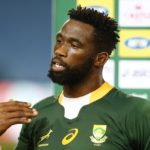South Africa's Siya Kolisi is interviewed after the final whistle during the Summer International test match at the Loftus Versfeld Stadium in Pretoria, South Africa. Picture date: Friday July 2, 2021. (Photo by Steve Haag/PA Images via Getty Images)