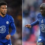 Kante and James of Chelsea